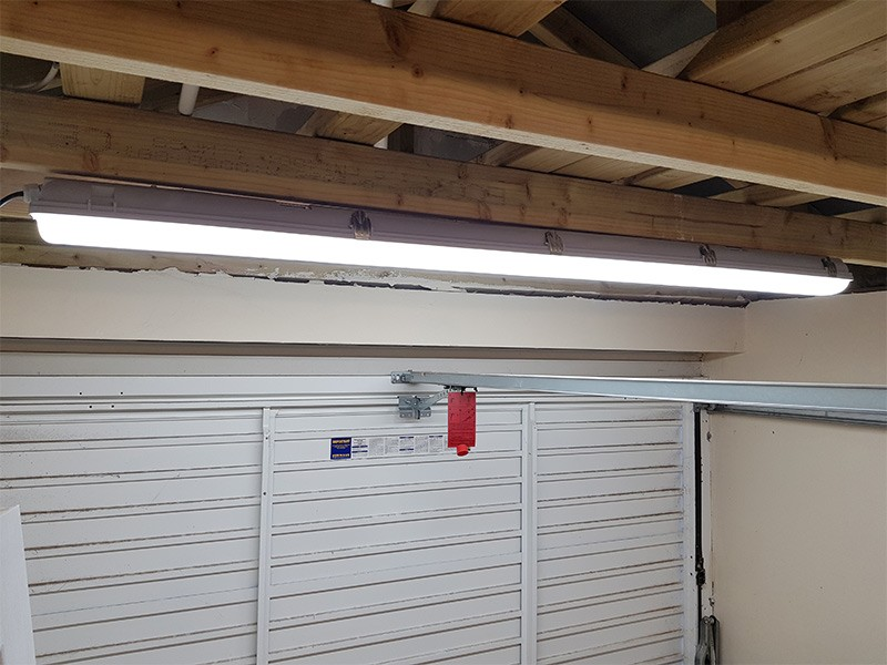 Led lights in garage utility room