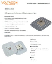 2D LED lamp & Emergency Driver