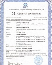LVD certificate for PLG24 LED LAMP